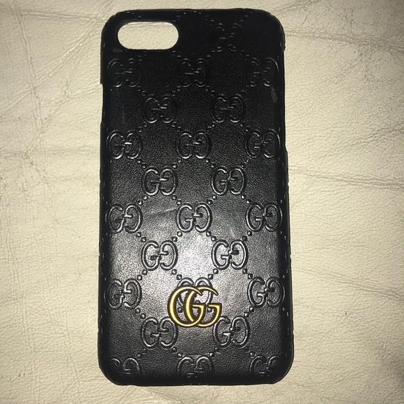 best sneakers 52e16 5c8e9 Gucci Leather iPhone 7/8 case